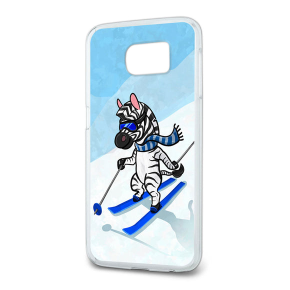Zebra Skiing Slim Fit Case Fits Samsung Galaxy S6