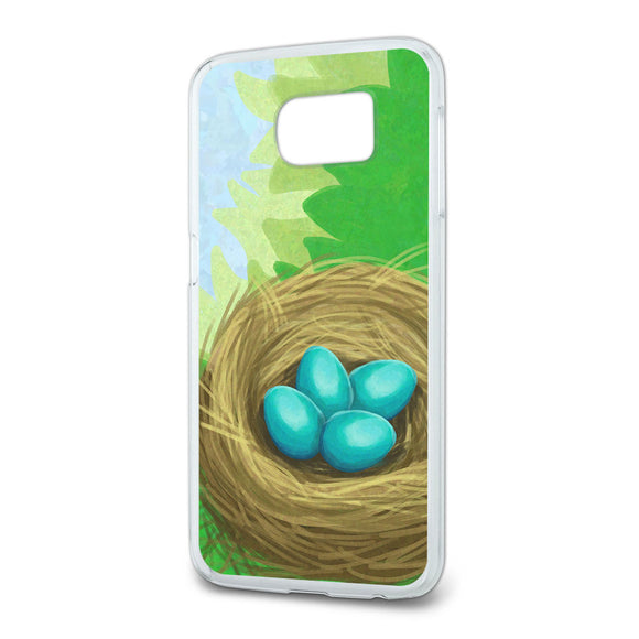 Robins Nest with Eggs Slim Fit Case Fits Samsung Galaxy S6