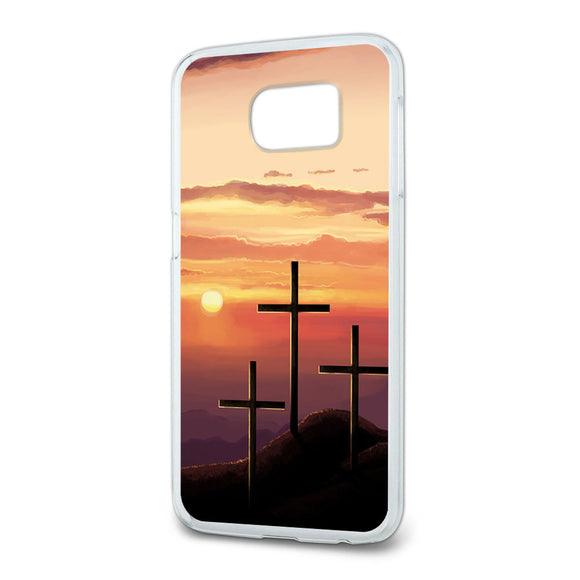 Three Crosses on Hill Slim Fit Case Fits Samsung Galaxy S6