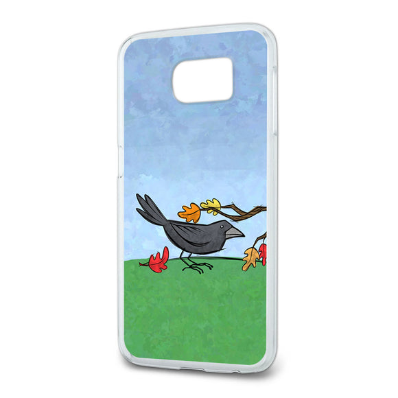 Crow in Autumn Slim Fit Case Fits Samsung Galaxy S6
