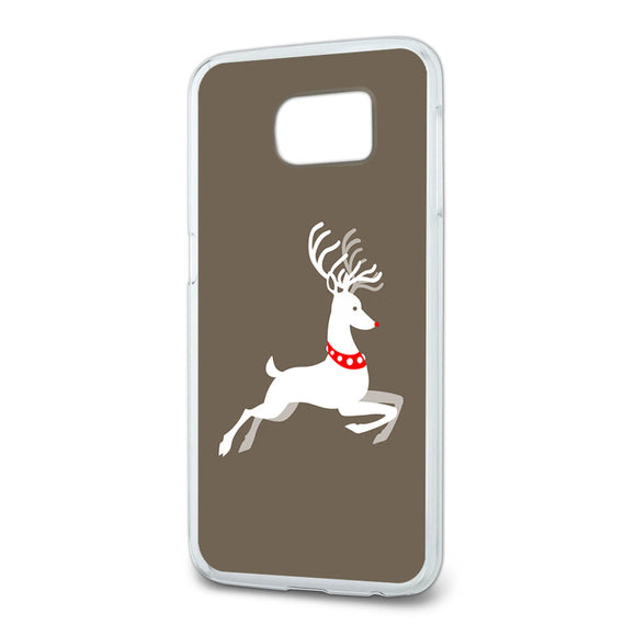 Prancing Reindeer Christmas Slim Fit Case Fits Samsung Galaxy S6