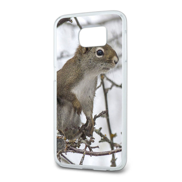 Winter Forest Tree Squirrel Slim Fit Case Fits Samsung Galaxy S6