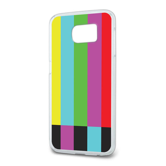 Test Television Color Bars Slim Fit Case Fits Samsung Galaxy S6