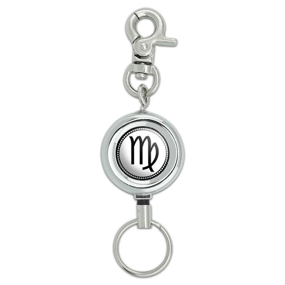 Zodiac Sign Virgo Lanyard Belt ID Badge Key Retractable Reel Holder