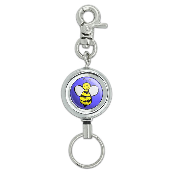 Busy As A Bee Lanyard Belt ID Badge Key Retractable Reel Holder