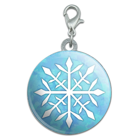 Snowflake Stainless Steel Pet Dog ID Tag