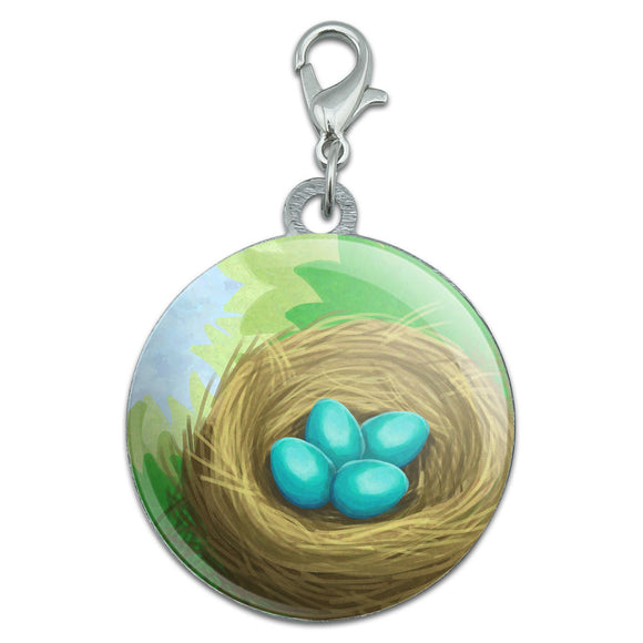 Robin's Nest with Eggs Stainless Steel Pet Dog ID Tag