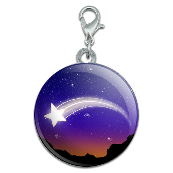 Wishing on a Shooting Star Stainless Steel Pet Dog ID Tag