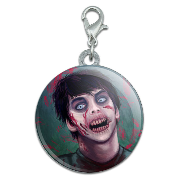 Zombified Boy Stainless Steel Pet Dog ID Tag