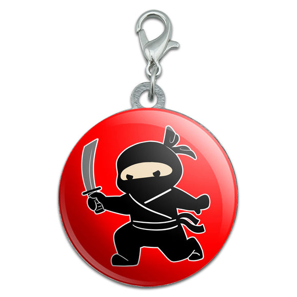 Sneaky Ninja Attacks Stainless Steel Pet Dog ID Tag