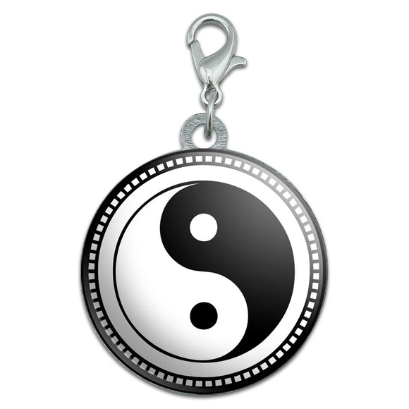 Yin Yang Symbol Stainless Steel Pet Dog ID Tag