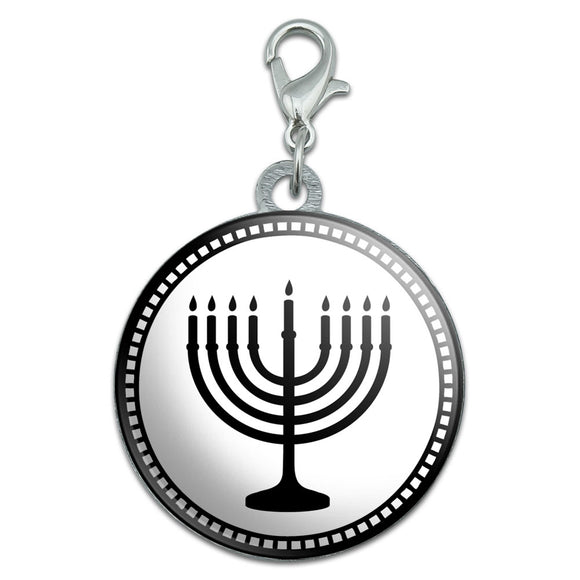 Menorah Stainless Steel Pet Dog ID Tag