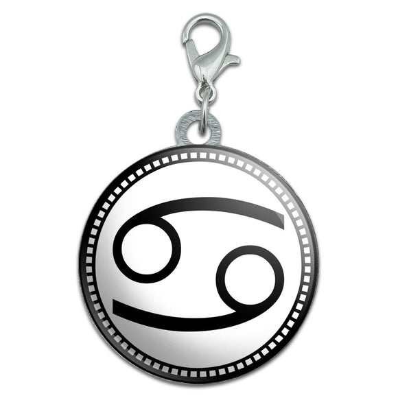 Zodiac Sign Cancer Stainless Steel Pet Dog ID Tag