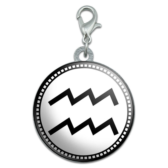 Zodiac Sign Aquarius Stainless Steel Pet Dog ID Tag