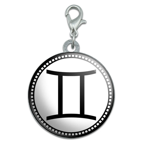 Zodiac Sign Gemini Stainless Steel Pet Dog ID Tag