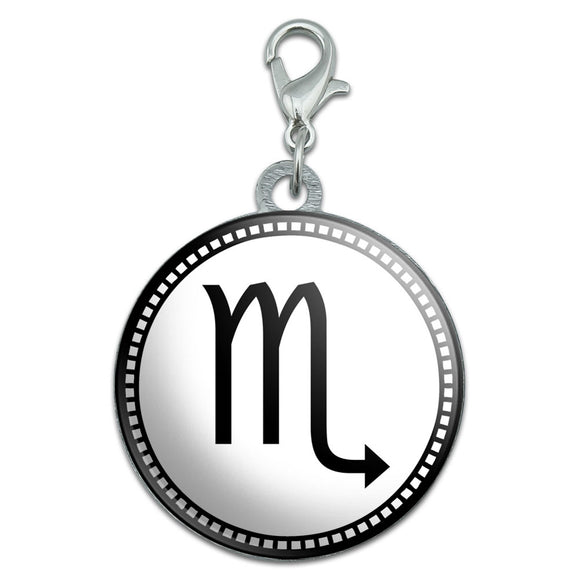 Zodiac Sign Scorpio Stainless Steel Pet Dog ID Tag