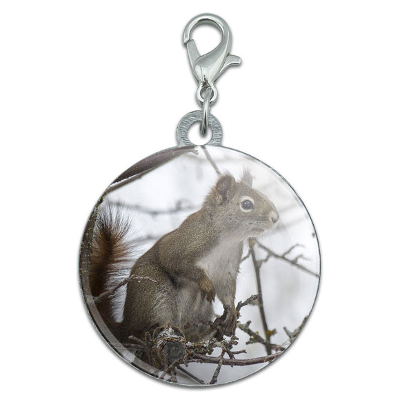 Winter Forest Tree Squirrel Stainless Steel Pet Dog ID Tag
