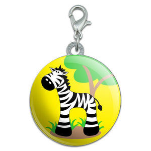 Zebra And Tree Cute Stainless Steel Pet Dog ID Tag