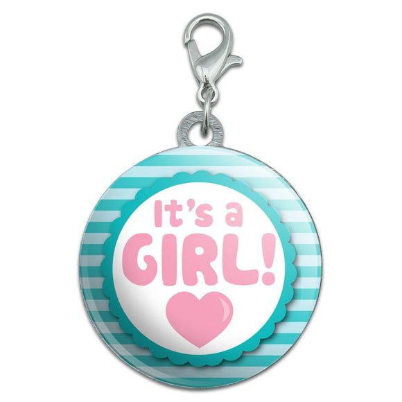 It's A Girl Baby Stainless Steel Pet Dog ID Tag