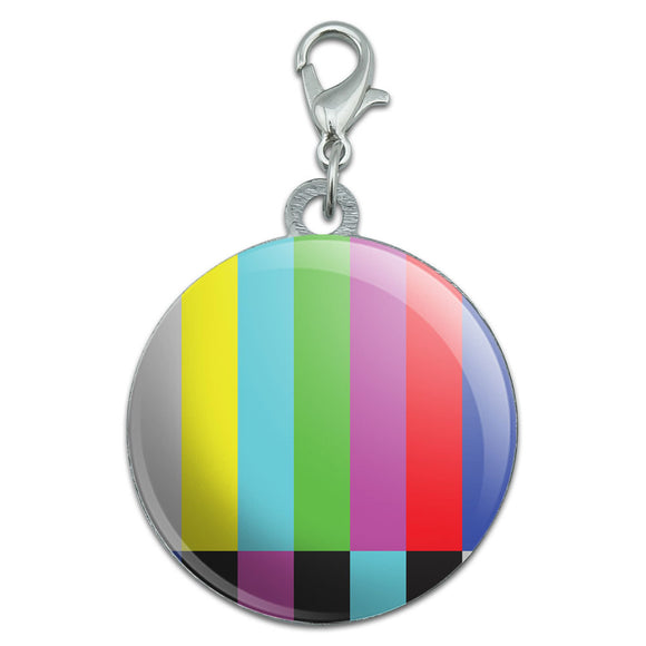 Test Television Color Bars Stainless Steel Pet Dog ID Tag