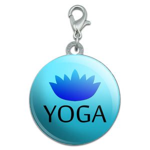 Yoga Lotus Flower Stainless Steel Pet Dog ID Tag