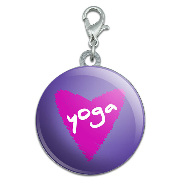 Yoga In Love Stainless Steel Pet Dog ID Tag