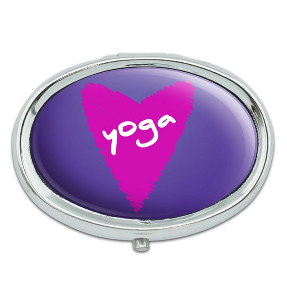 Yoga In Love Metal Oval Pill Case Box