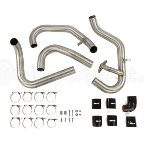 ETS 04-07 Subaru STI Brushed Titanium Front Mount Intercooler Piping Kit - Subaru STI 04-07