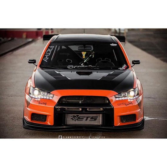 Mitsubishi Evolution EVO X 10 ETS 3.5 Upgrade Intercooler Kit with Black Piping for 2008