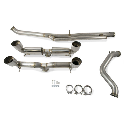 ETS Focus RS Exhaust System (with Mufflers) - Focus RS Exhaust System