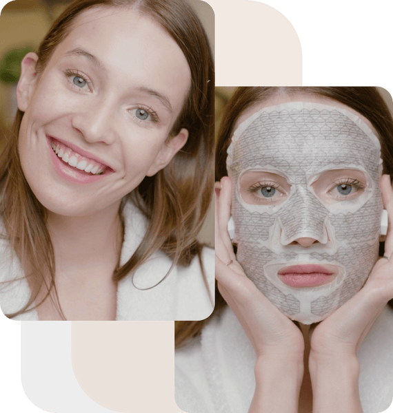 Use a face mask weekly