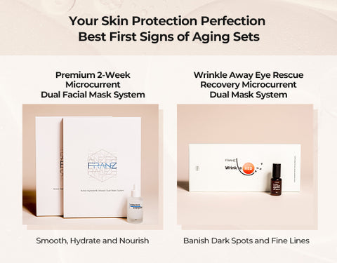 Wrinkle Away Eye Rescue Recovery Microcurrent Dual Mask System