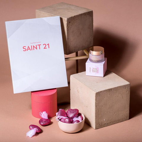 SAINT 21 Gold Luxe Microcurrent Facial Dual Mask System