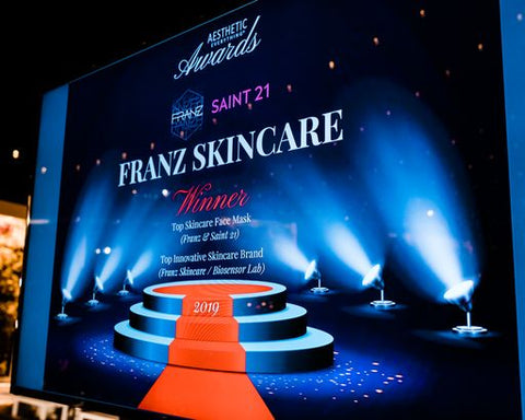 "Saint @1 Facial Mask  ""Top Skincare Face Mask"" in the 2020 Aesthetic Everything® Aesthetic and Cosmetic Medicine Awards"