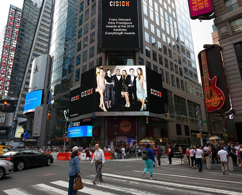 FRANZ Skincare in Times Square New York
