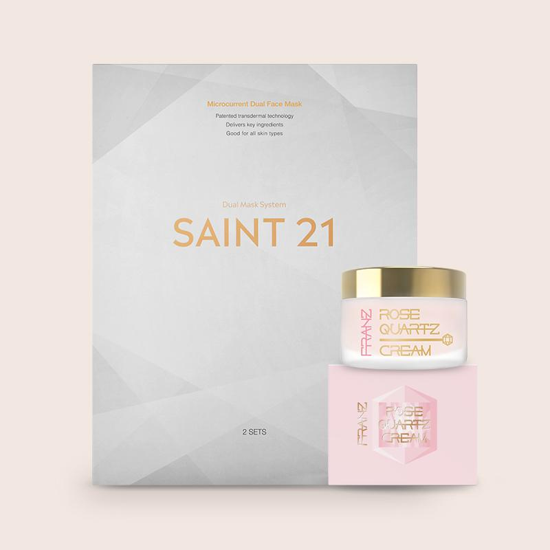 SAINT 21 Gold Luxe Microcurrent Facial Dual Mask System Franz Skincare USA