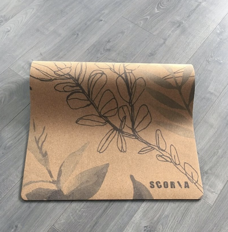 Blossom Cork Yoga Mat (4.5MM) - Scoria