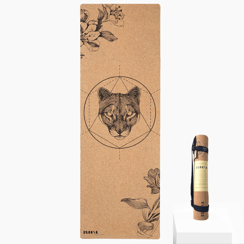 *PRE-ORDER* Mountain Lion Cork Yoga Mat | 3.5MM OR 4.5MM