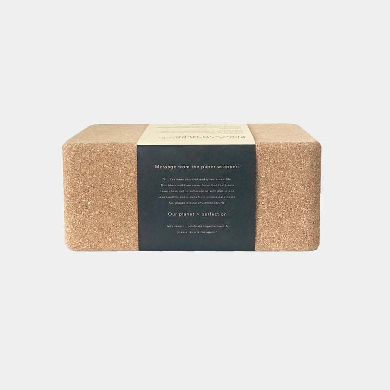 cork yoga block scoria