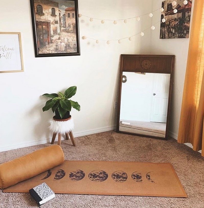 Moon Phases Cork Yoga Mat | 4.5MM