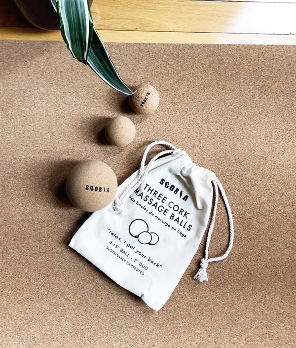 Cork Massage Balls (Set of Three)