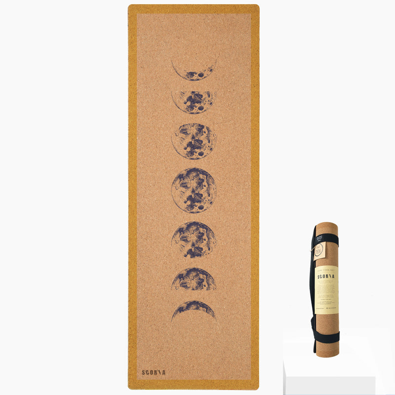*PRE-ORDER* Moon Phases Cork Yoga Mat | 4.5MM