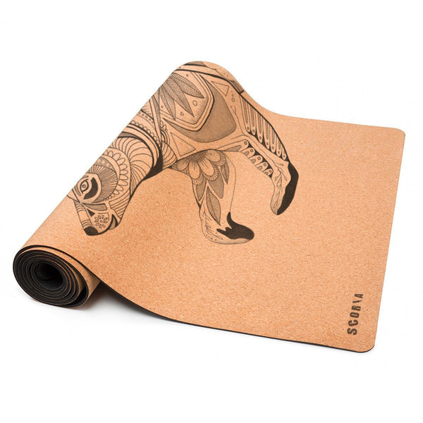 Night Bear Cork Yoga Mat | 3.5-4.5MM | Collab Edition