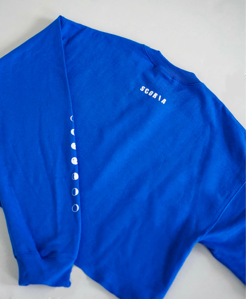 Moon Phases Blue Sweatshirt