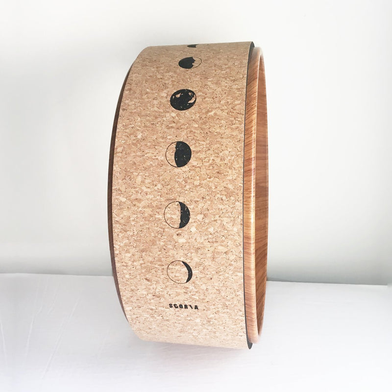 Illuminate Cork Yoga Wheel - Scoria