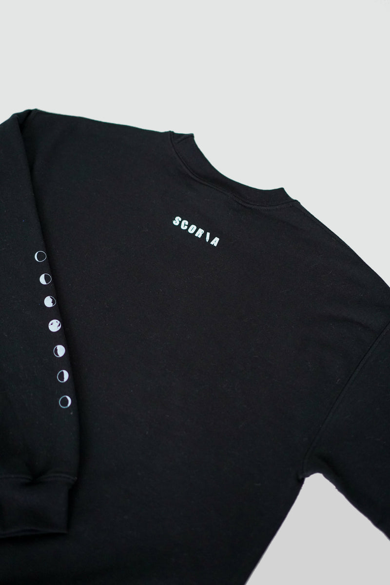 Moon Phases Black Sweatshirt