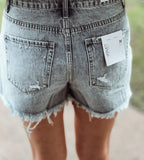 The Moonstone High Rise Button Up Shorts - Face 2 Soul Beauty Boutique