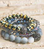 Shimmering Glass Bead Stackable Bracelets - Face 2 Soul Beauty Boutique