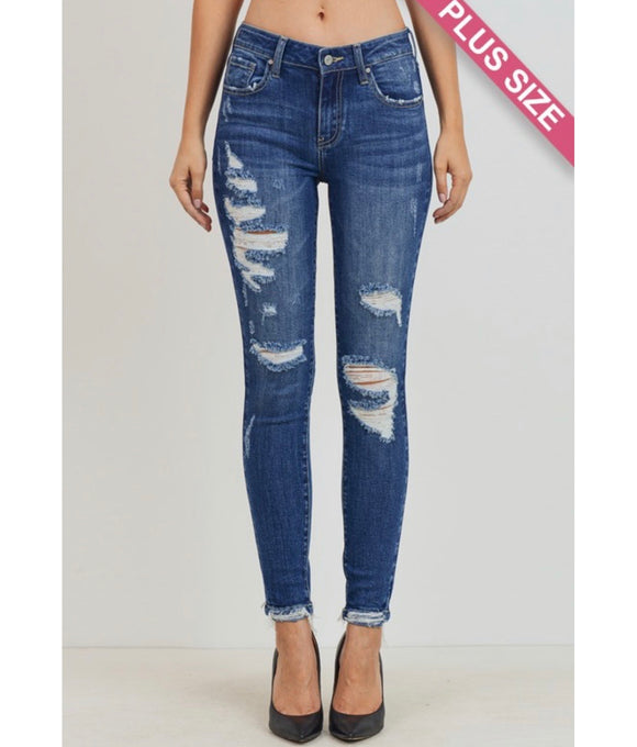 The Karen Curvy Distressed Skinnies - Face 2 Soul Beauty Boutique