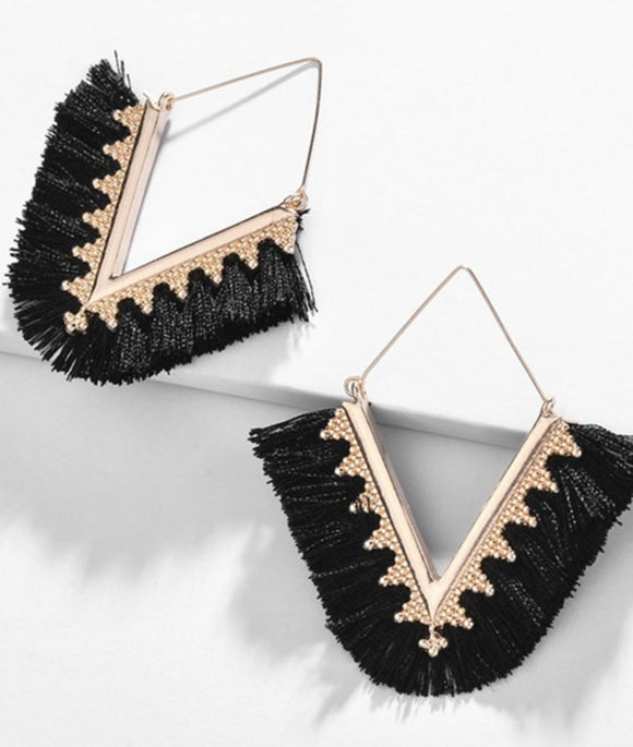 The Black Erica Earrings